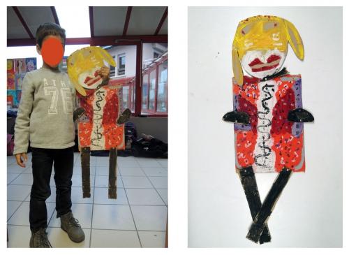 pantins, géants, atelier, arts, plastiques, enfants, peinture
