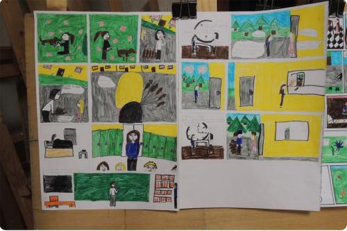 atelier, BD, bande, dessinée, enfants, mjc, activité, arts, plastiques
