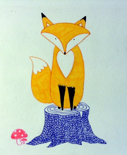 renard,illustration,dessin