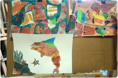 atelier, arts, plastiques, enfants, peinture, collage, découpage, abstrait, figuratif, expérience, empreintes, traces