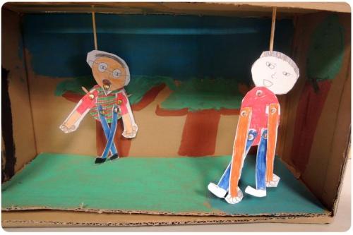 atelier, arts, plastiques, enfants, périscolaire, théâtre, marionnettes, pierre, loup