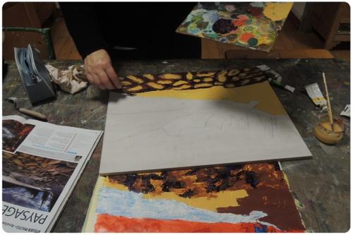 atelier,arts,plastiques,adultes,peinture,couteau,paysage,mjc