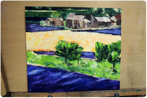 atelier, arts, plastiques, adultes, peinture, couteau, paysage, MJC