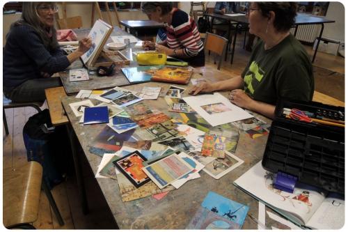 atelier, arts, plastiques, adultes, peinture, tableau, compléter