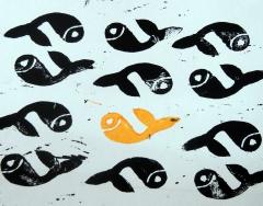 linogravure,poissons