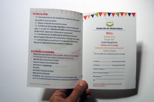 flyer, fête, amap