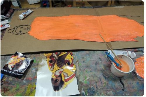 atelier, arts, plastiques, adultes, peinture, modèle, vivant, grand, format