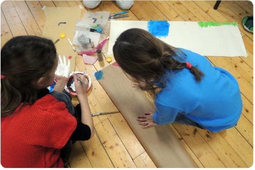 atelier, arts, plastiques, enfants, peinture, collage, découpage, abstrait, figuratif, expérience