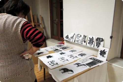 atelier, arts, palstiques, linogravure, adultes, MJC, animal, végétal, cours,